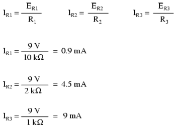 parallel circuits formula