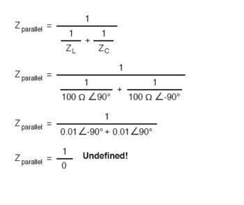 parallel impedance formula1