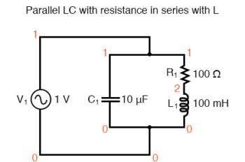 parallel lc circuit with resistance