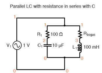 parallel lc with resistance in serieis