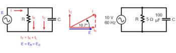 parallel r c circuit diagram
