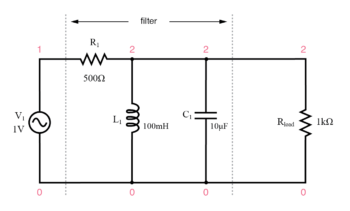 parallel resonant band pass filter