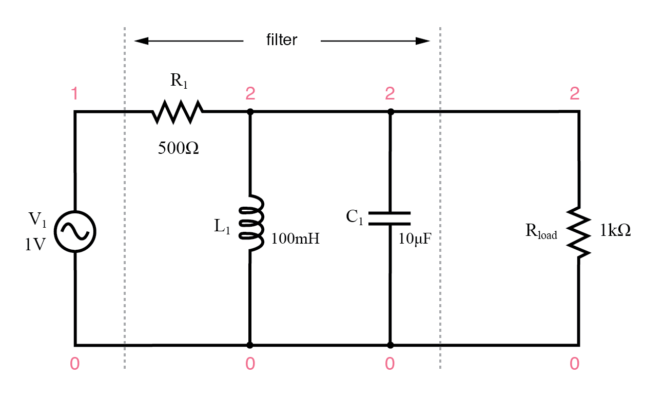 Parallel resonant band-pass filter.