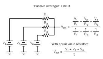 passive averager circuit
