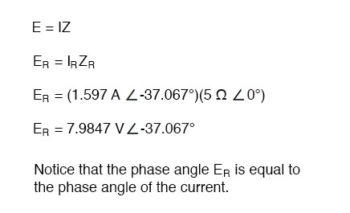 phase angle of current equation1