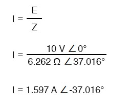 calculate current in the above circuit