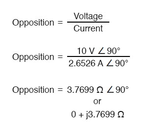 phase angles of voltage and current equation