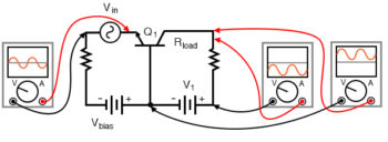 phase relationships and offsets for npn common base amplifier