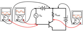 pnp version of the common collector amplifier