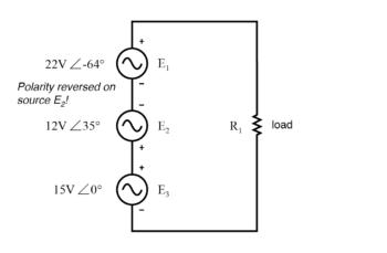 polarity of e2 is reversed