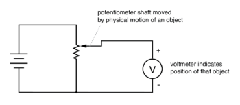 potentiometer tap voltage indicates position new