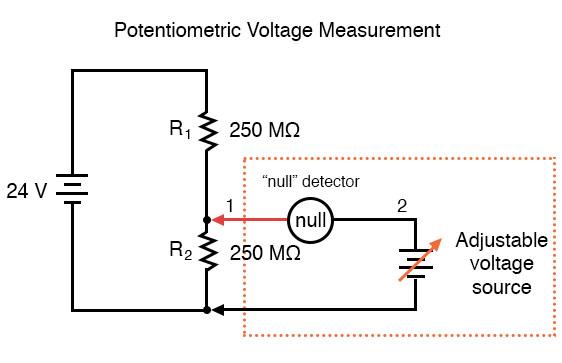 potentiometer voltage measurement