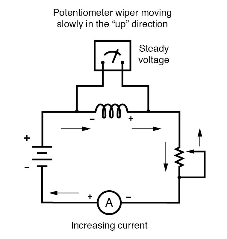potentiometer wiper increasing current