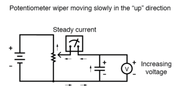 potentiometer wiper moving slowly in the up direction2
