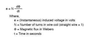 relationship between voltage current and magnetic flux