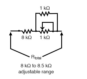 resistor in parallel adjustable range