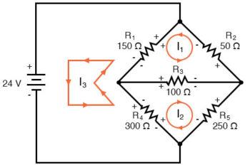 resistor voltage drop polarities