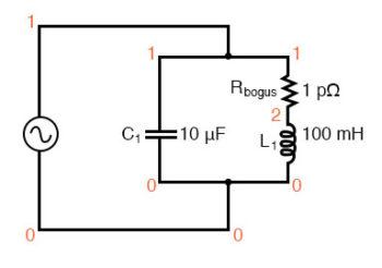 resonant circuit spice simulation