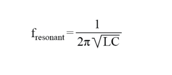 resonant combinations of capacitance and inductance formula