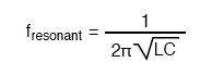For a tank circuit with no resistance (R), resonant frequency can be calculated with the following formula