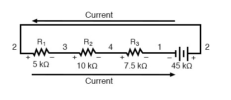 sample series circuit in straight line
