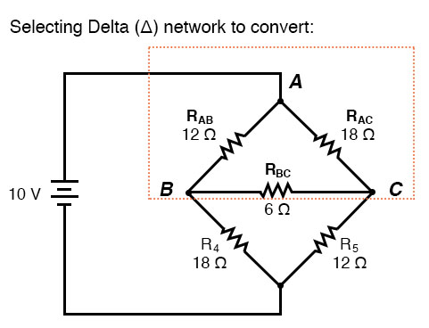 selecting delta network to convert