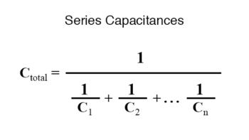 series capacitances