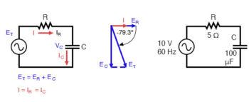 series capacitor circuit diagram
