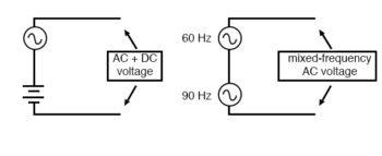 series connection of voltage sources mixes signals