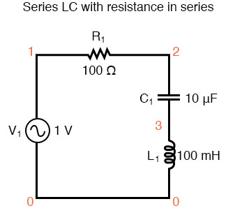 series lc with resistance in series