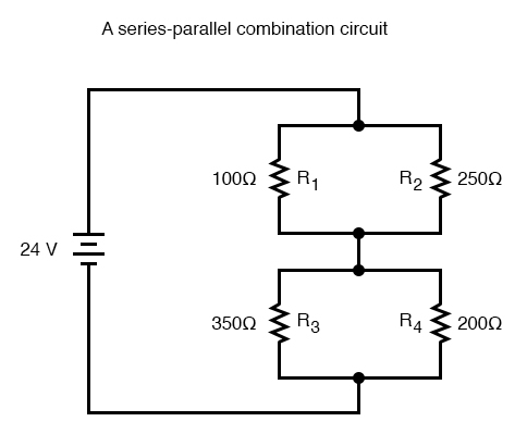 series parallel combination circuits image two