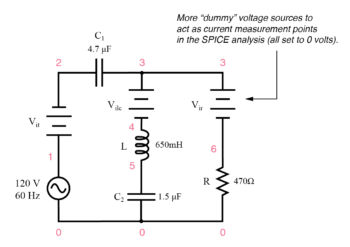 series parallel rlc spice circuit
