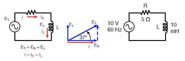 Series Resistor Inductor Circuit Example