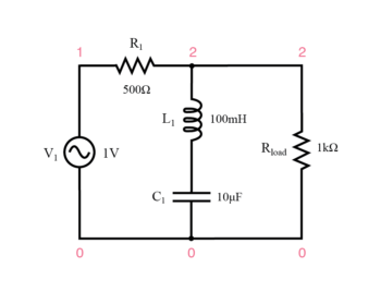series resonant band stop filter