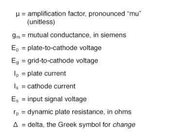 several mathematical variables