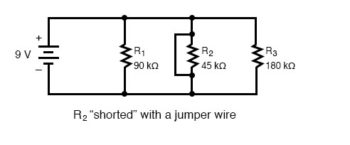 shorted components parallel circuit