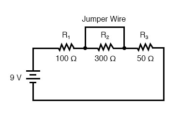 shorted components series circuit