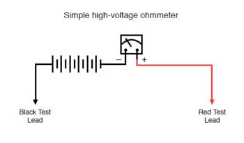 simple high voltage ohmmeter