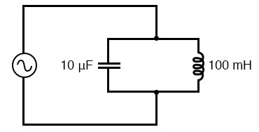 Simple parallel resonant circuit (tank circuit).