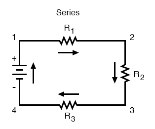 simple series circuit image one