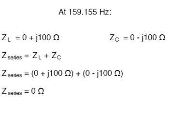simple series resonant circuit equation