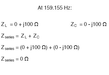 Simple series resonant circuit equation
