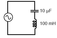 Simple series resonant circuit.
