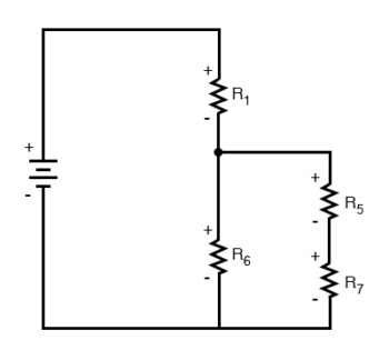 simplified circuit diagram one