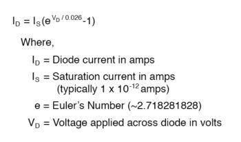 simplify diode equation
