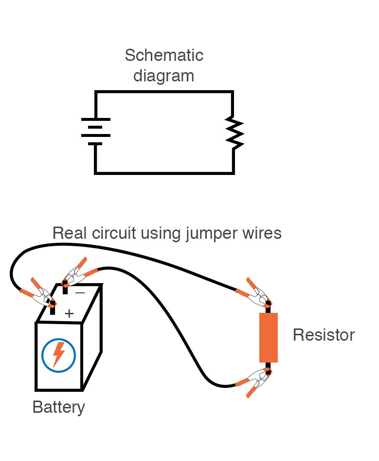 single battery single resitor circuit