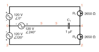 spice circuit for phase sequence detector