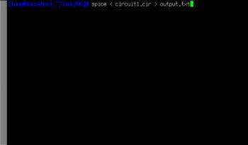 spice linux output