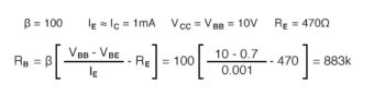stabilization of the current to prior bias circuits