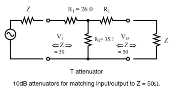 t attenuator diagram